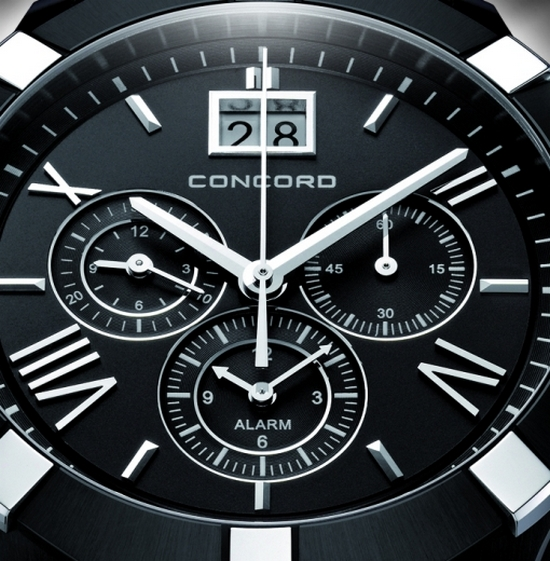 Concord Saratoga Chronograph Black PVD Watch Dial