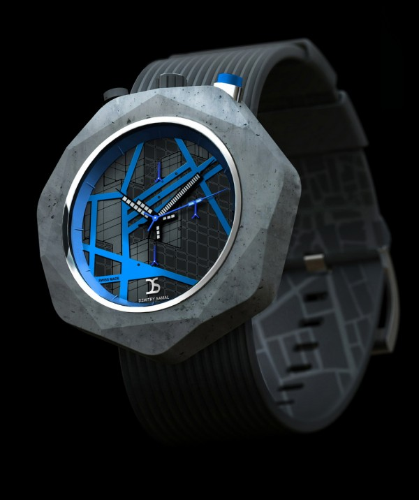 Three Dzmitry Samal Concrete Watch