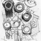 Dzmitry Samal Concrete Watches Drawing