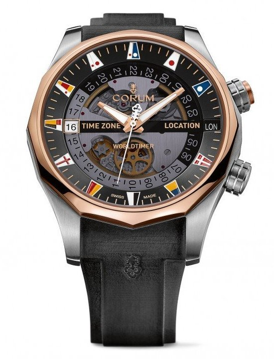 Corum Admiral's Cup Legend 47 Worldtimer Watch - two-toned
