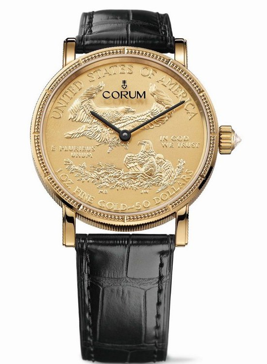 Corum Coin 50th Anniversary Watch American Gold Eagle