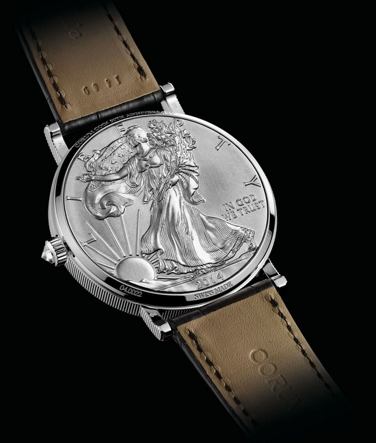 Corum Coin 50th Anniversary Watch American Silver Eagle Case Back