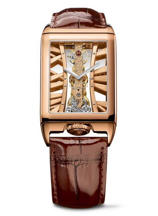 Corum Golden Bridge Rectangle Watch Front