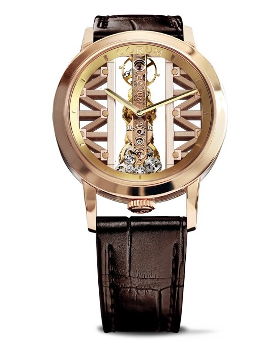 Corum Golden Bridge Round Watch Rose Gold