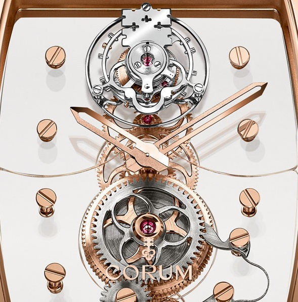 Corum Golden Bridge Tourbillon Panoramique Watch Dial Detail