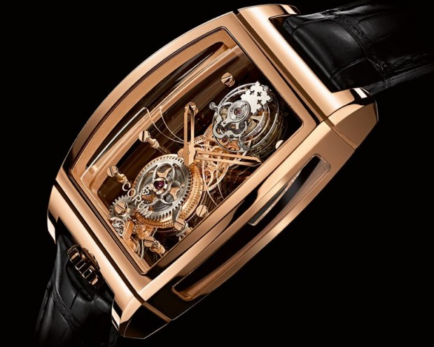 Corum Golden Bridge Tourbillon Panoramique Watch Side