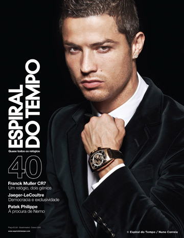 Cristiano Ronaldo on the Cover of Espiral Do Tempo Watch Magazine