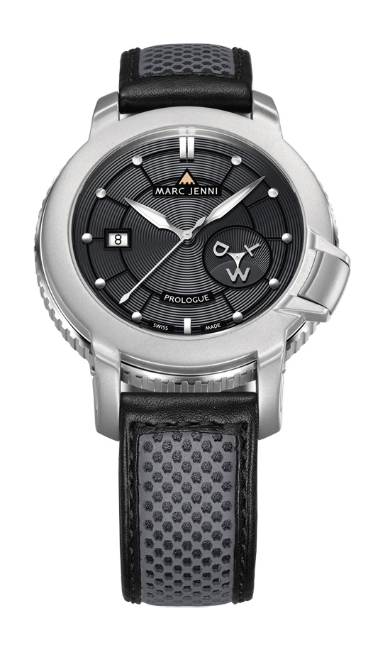Marc Jenni Prologue Wdt Watch Black Leather Strap