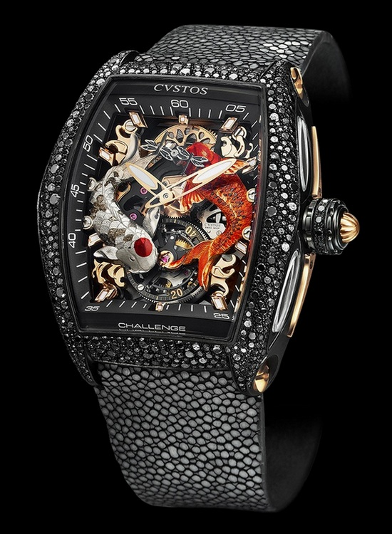 Cvstos Challenge Koi Tourbillon Watch Black