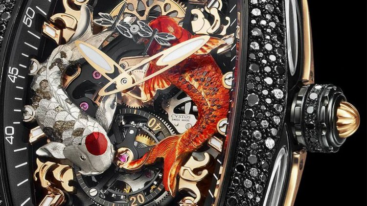 Cvstos Challenge Koi Tourbillon Watch Detail