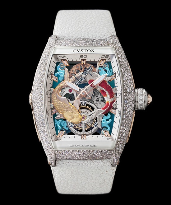 Cvstos Challenge Koi Tourbillon Watch White