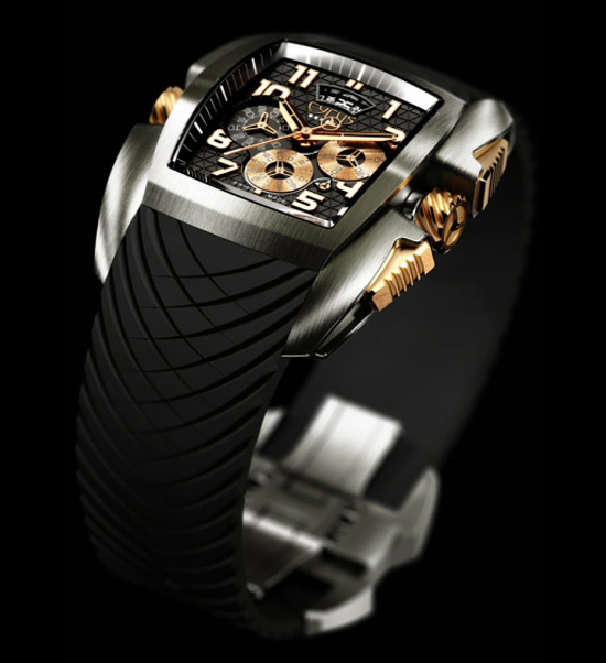 Cyrus Kuros Titanium Red Gold Watch