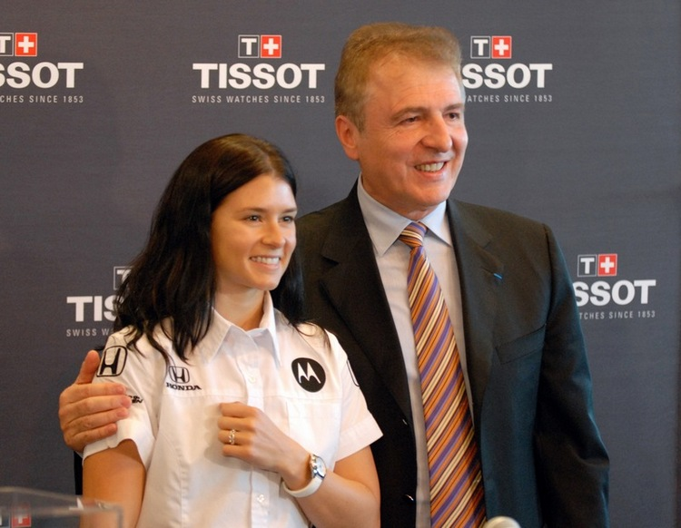 Danica Patrick and François Thiébaud