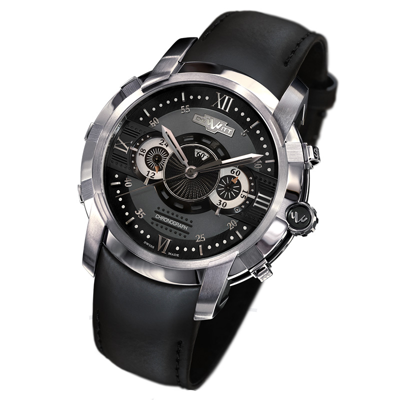 DeWitt Furtive Chronograph Black Watch