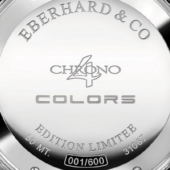 Eberhard & Co. Chrono 4 Colors Chronograph Watch Caseback