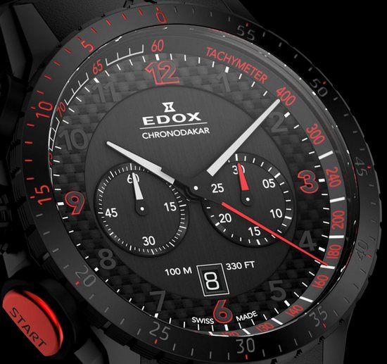 Edox Chronodakar Limited Edition 2013 Watch Dial