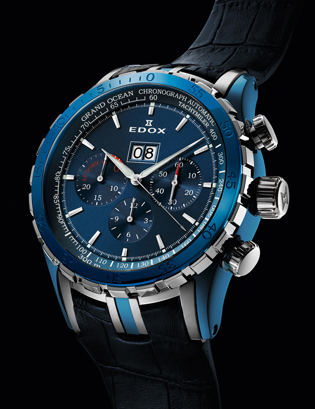 Edox Grand Ocean Extreme Sailing Series Special Edition Blue Dial Watch