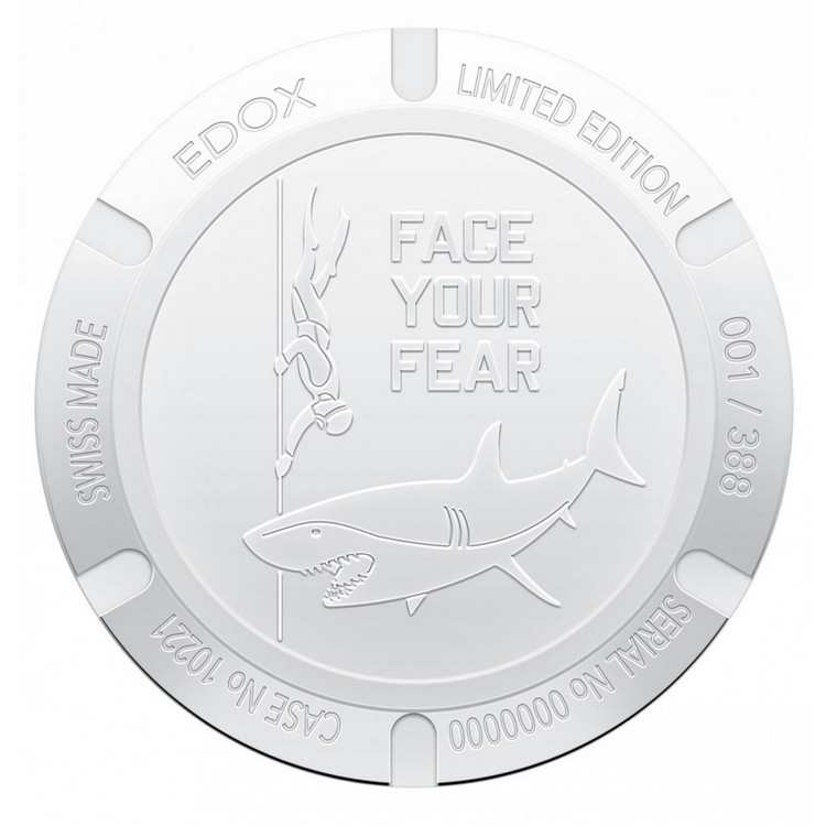 Edox SharkMan I Limited Edition Watch Case Back