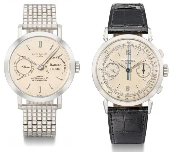 Patek Philippe Ref. 2458 and Ref. 1579