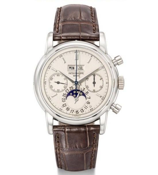 Patek Philippe Platinum Perpetual Calendar Chronograph Watch Owned by Eric Clapton