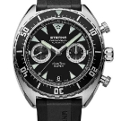 Eterna Super KonTiki Chronograph Watch - Black Dial and Rubber Strap