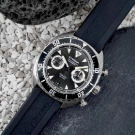 Eterna Super KonTiki Chronograph Watch - Black Dial