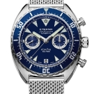 Eterna Super KonTiki Chronograph Watch - Blue Dial and Milanese Bracelet