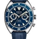 Eterna Super KonTiki Chronograph Watch - Blue Dial and Rubber Strap