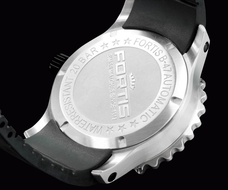 Fortis B-47 Big Steel Limited Edition 2012 Watch Caseback