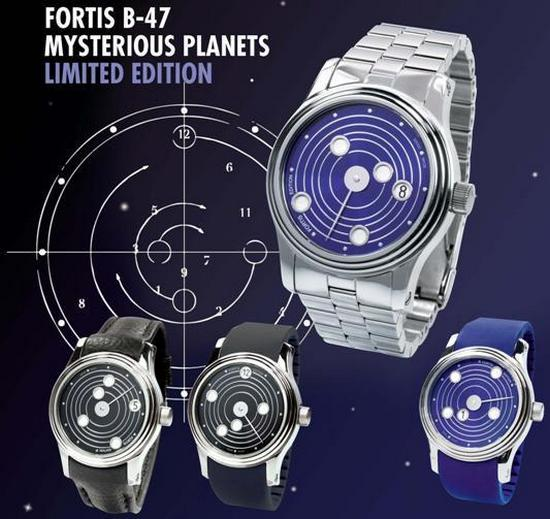 Fortis B-47 Mysterious Planets Limited Edition Watch ...