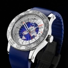 Fortis B-47 World Timer GMT Limited Edition Watch Blue