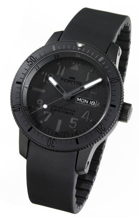 Fortis B-42 Black Black Limited Edition Watch