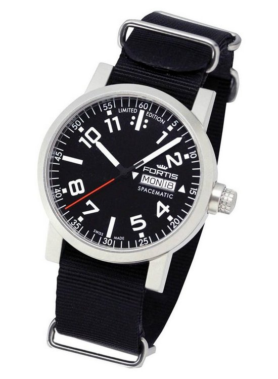 Fortis Spacematic Limited Edition Watch Black Dial 633.22.41