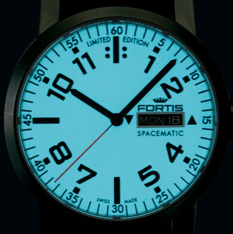 Fortis Spacematic Limited Edition Watch White Dial Night