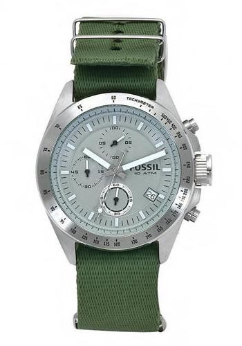 fossil-decker-nylon-green-strap-chronograph-dial-watch-front