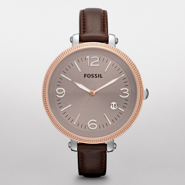 Fossil Leather Watch Ladies Fossil Heather Leather Watch