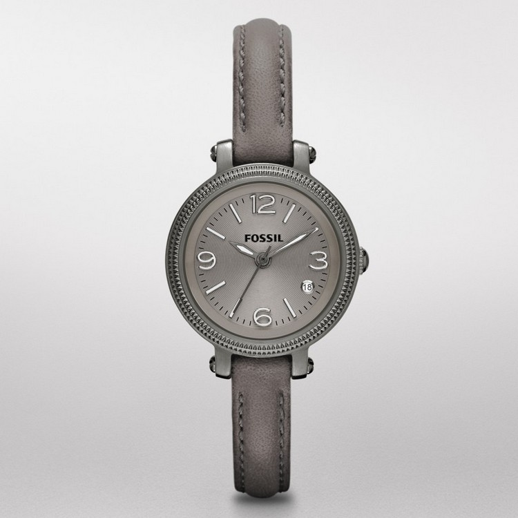 Fossil Heather Mini Leather Watch Grey