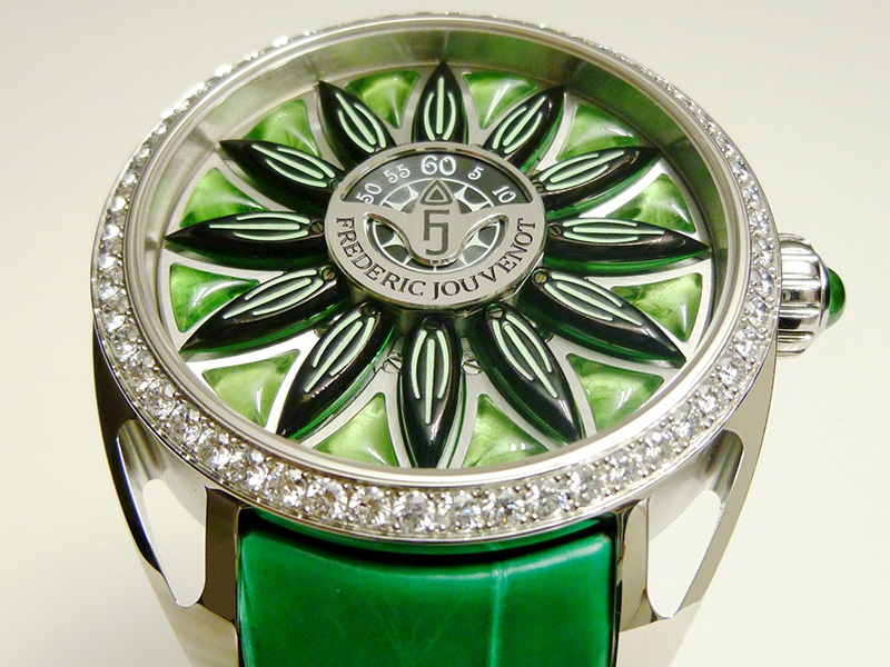 Frederic Jouvenot Sun Deity Surya Green Watch Case
