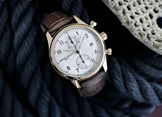 Frederique Constant Runabout Chronograph Rose Gold Plated Watch