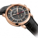 Girard-Perregaux 1966 Dual Time Black Leather Watch Profile