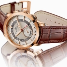 Girard-Perregaux 1966 Dual Time Brown Leather Watch Profile