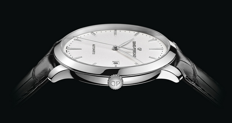 Girard-Perregaux 1966 Stainless Steel Watch Side View