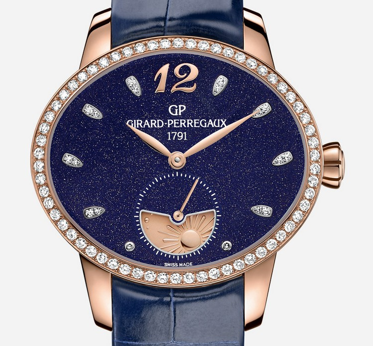 Girard-Perregaux Cat's Eye Aventurine Dial Watch Front