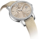 Girard Perregaux Cats Eye Steel Watch Beige Strap and Dial