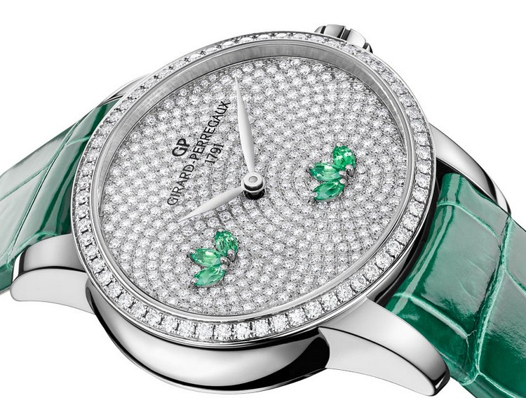 Girard-Perregaux Cats Eye Water Lily Emeralds Watch Dial
