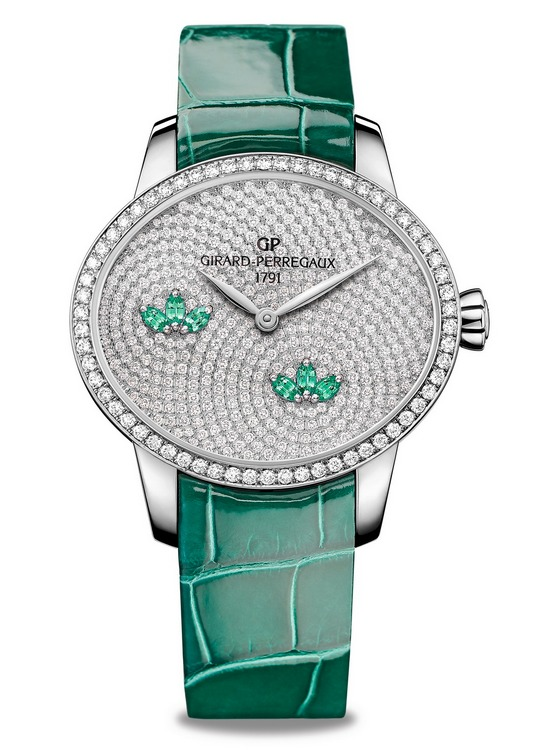 Girard-Perregaux Cats Eye Water Lily Emeralds Watch
