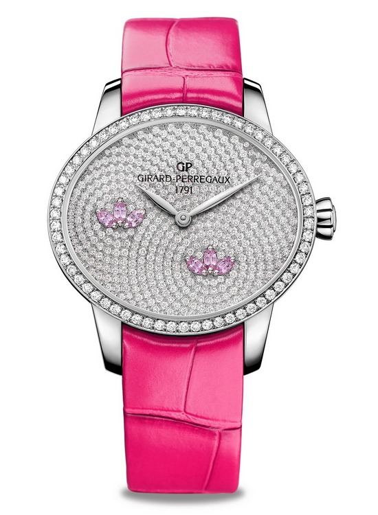 Girard-Perregaux Cats Eye Water Lily Pink Sapphires Watch