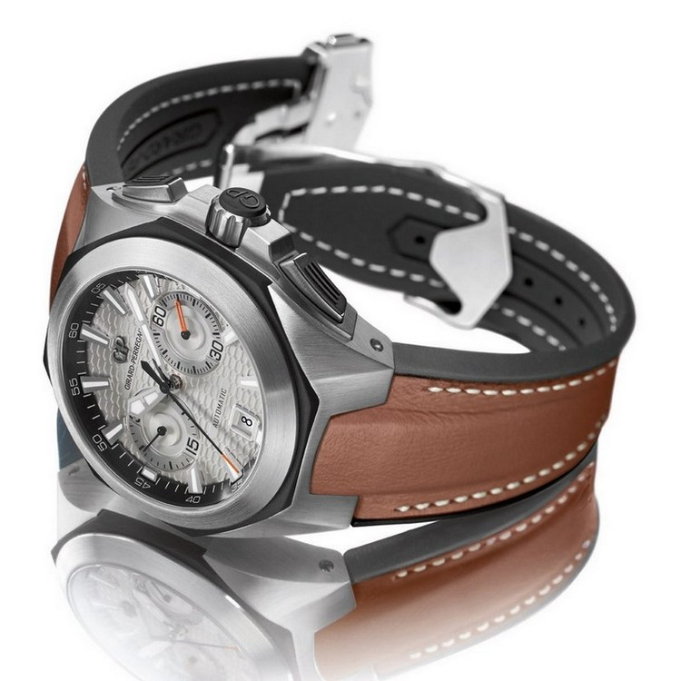 Girard-Perregaux Chrono Hawk Browan Strap Watch