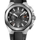 Girard-Perregaux Chrono Hawk Black Strap Watch Front