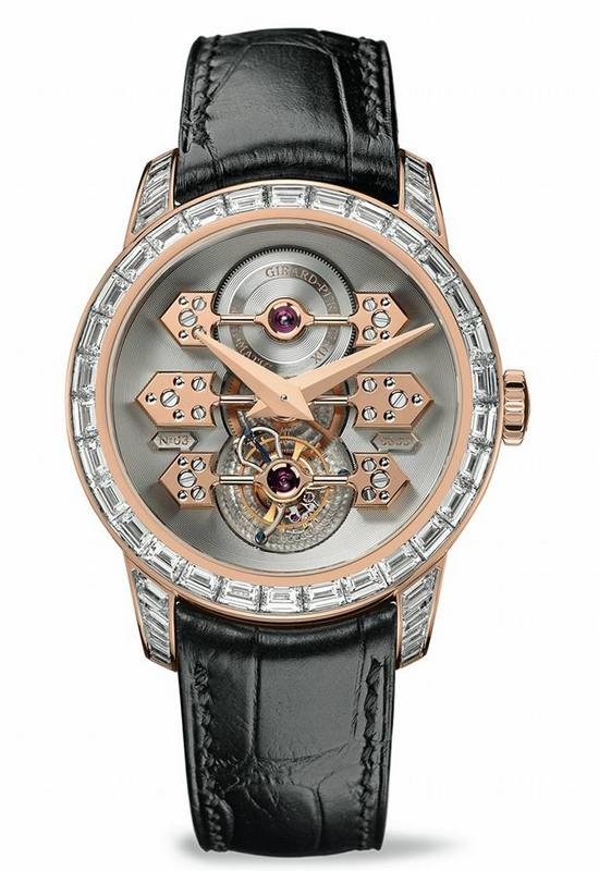 Girard-Perregaux Tourbillon with Three Gold Bridges Watch with Diamonds-1